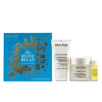 Stop.Breathe.Relax Holiday Kit:Cleansing Mousse 50ml+ Hydrating Oil Serum 5ml+ 24hr Hydrating Light Cream 50ml 3pcs