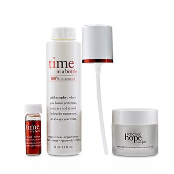 Hydrating & Glow Renewing Duo: Time In A Bottle Serum+Activator+Renewed Hope In A Jar  3pcs