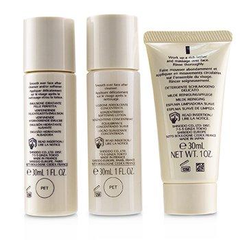 IBUKI Simple Start Set: Gentle Cleanser 30ml + Softening Concentrate 30ml + Refining Moisturiser 30ml  3pcs