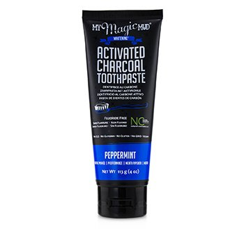Activated Charcoal Toothpaste (Fluoride-Free) - Peppermint  113g/4oz
