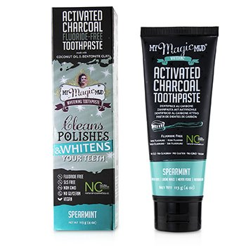 Activated Charcoal Toothpaste (Fluoride-Free) - Spearmint  113g/4oz