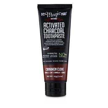 Activated Charcoal Toothpaste (Fluoride-Free) - Cinnamon Clove  113g/4oz