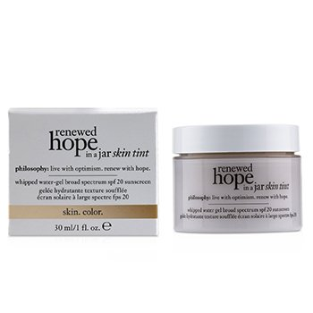 Renewed Hope In A Jar Skin Tint Whipped Water Gel SPF 20 - # 6.0 Almond (Exp. Date: 02/2020)  30ml/1oz