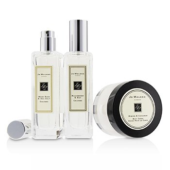 Coffret: Blackberry & Bay Cologne Spray 30ml/1oz + Wood Sage & Sea Salt Cologne Spray 30ml/1oz + Mimosa & Cardamom Body Creme 50ml/1.7oz 3pcs