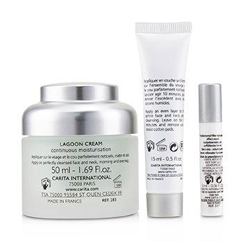 Ideal Hydratation Coffret: Lagoon Cream 50ml + Replumping Effect Serum 2ml + Biological Mask 15ml  3pcs