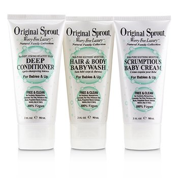 Travel Trio Set: 1x Deep Conditioner 90ml+1x Hair and Body Babywash 90ml +1x Scrumptious Baby Cream 90ml (For Babies & Up)  3pcs
