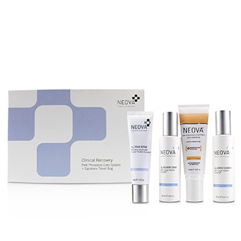 Clinical Recovery Post Procedure Cure System: Cu3 Gentle Cleanser 100ml + Cu3 Tissue Repair + 56g + Cu3 Recovery Spray 100ml + Silc Sheer 2.0 Photo Finish Tint SPF 40 74ml + bag  4pcs+1bag