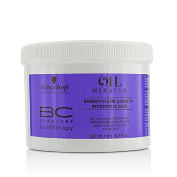 BC Bonacure Oil Miracle Barbary Fig Oil & Keratin Restorative Mask - For Very Dry and Brittle Hair (Exp. Date: 02/2020)  500ml/16.9oz
