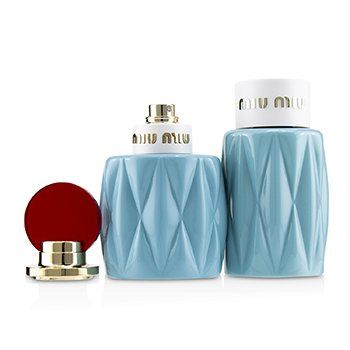 Miu Miu Coffret: Eau De Parfum Spray 50ml/1.7oz + Perfumed Body Lotion 100ml/3.4oz  2pcs