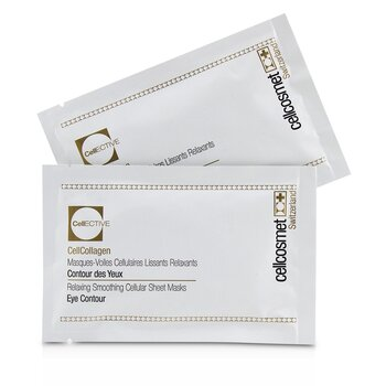 Cellcosmet CellEctive CellCollagen Eye Contour Relaxing Smoothing Cellular Sheet Masks  5x2patchs