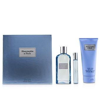First Instinct Blue Coffret: Eau De Parfum Spray 100ml/3.4oz + Body Lotion 200ml/6.7oz + Eau De Parfum Spray 15ml/0.5oz  3pcs