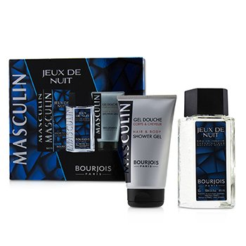 Masculin Coffret: Jeux De Nuit Eau De Toilette Spray 100ml/3.3oz + Hair & Body Shower Gel 150ml/5oz  2pcs