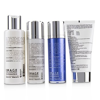 Image MD Skincare System: Restoring Facial Cleanser + Restoring Youth Serum + Restoring Youth Repair Creme + Restoring Daily Defense Moisturizer With Sunscreen SPF 50  4pcs
