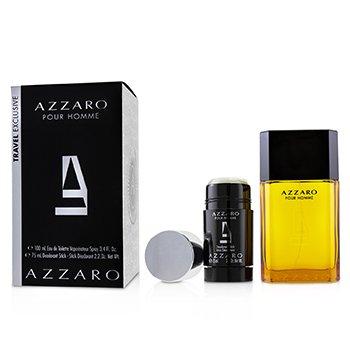 Azzaro Coffret: Eau De Toilette Spray 100ml/3.4oz + Deodorant Stick 75ml/2.2oz  2pcs