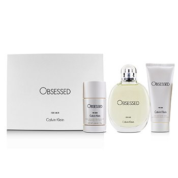 Obsessed Coffret: Eau De Toilette Spray 125ml/4oz + Hair And Body Wash 100ml/3.4oz + Deodorant Stick 75ml/2.6oz  3pcs
