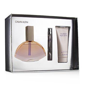 Endless Euphoria Coffret: Eau De Parfum Spray 125ml/4oz + Sensual Body Lotion 100ml/3.4oz + Eau De Parfum Spray 10ml/0.33oz  3pcs
