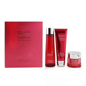 Nutritious Super-Pomegranate Overnight Radiance Collection: Cleansing Foam 125ml+Lotion Intense Moist 200ml+Night Creme 50ml  3pcs