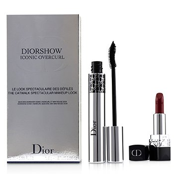 Diorshow Iconic Overcurl The Catwalk Spectacular Makeup Look Set (1x Mascara, 1x Mini Lipstick)  2pcs