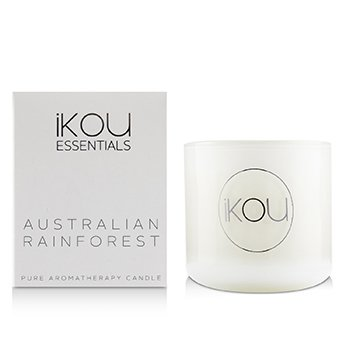 Eco-Luxury Aromacology Natural Wax Candle Glass - Australian Rainforest (Lemon Myrtle & Eucalyptus)  (2x2) inch