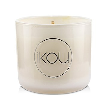 Eco-Luxury Aromacology Natural Wax Candle Glass - Joy (Australian White Flannel Flower)  (2x2) inch