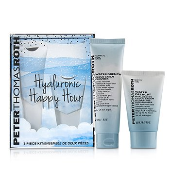 Hyaluronic Happy Hour 2-Piece Kit: 1x Cleanser 30ml + 1x Moisturizer 20ml - סט קרם לחות וקלינסר  2pcs