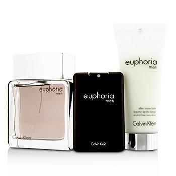Euphoria Coffret: Eau De Toilette Spray 100ml/3.4oz + After Shave Balm 100ml/3.4oz + Eau De Toilette 20ml/0.67oz (Box Slightly Damaged)  3pcs