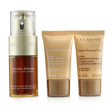 Double Serum & Extra-Firming Collection: Double Serum 30ml + Extra-Firming Day 15ml + Extra-Firming Night 15ml  3pcs