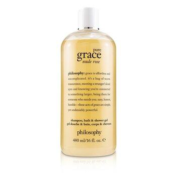 Pure Grace Nude Rose Shampoo, Bath & Shower Gel  480ml/16oz