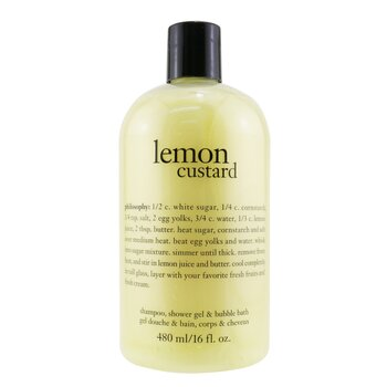 Lemon Custard Shampoo, Shower Gel & Bubble Bath  480ml/16oz
