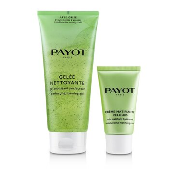 Pate Grise Anti-Imperfections Coach Kit : 1x Foaming Gel 200ml + 1x Moisturising Matifying Care 50ml  2pcs