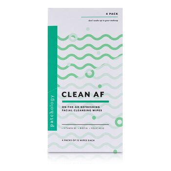Clean AF On-The-Go Refreshing Facial Cleansing Wipes  4x15sheets