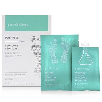 PoshPeel Pedi Cure - Gently Exfoliates & Resurfaces Feet (2 Treatments) 4x20ml/0.68oz