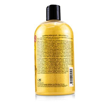 Sparkling White Peach Shampoo, Shower Gel & Bubble Bath  480ml/16oz