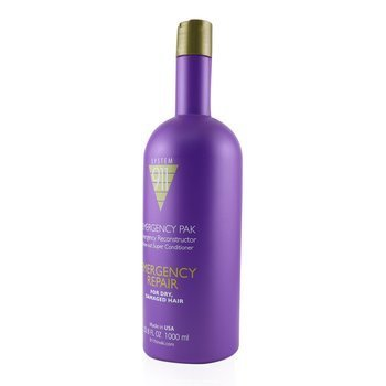 911 Emergency Pak Emergency Reconstructor Rinse-Out Super Conditioner (For Dry, Damaged Hair)  1000ml/33.8oz