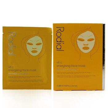 Vit C Energising Face Mask  4x20ml/0.67oz