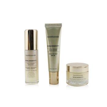 Give Good Skin Trio Set: Vital Power Infusion 30ml+ Vital Power Moisturizer SPF 30 30ml+ Vital Power Sleeping Gel Cream 30g  3pcs