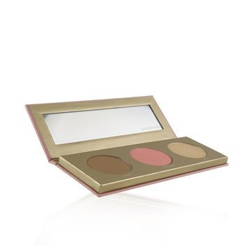 Bare Glow On The Go Face Palette (1x Bronzer, 1x Blush, 1x Highlighter)  6g/0.21oz