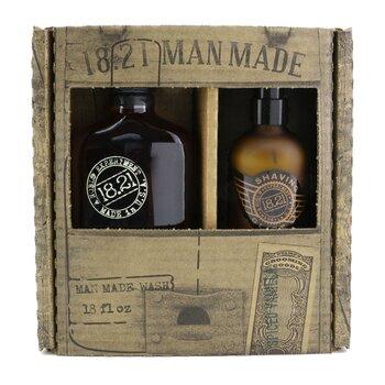Man Made Wash & Shaving Glide Set - # Spiced Vanilla: 1x Shampoo, Conditioner & Body Wash 530ml + 1x Shaving Glide 177ml  2pcs