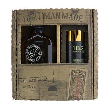 Man Made Wash & Deodorant Set - #Sweet Tobacoo: 1x Shampoo, Conditioner & Body Wash 530ml + 1x Deodorant Stick 75g  2pcs