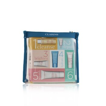 Head-to-Toe Moisturizing Essentials Set: Facial Cleanser+Eye Gel+Beauty Flash Balm+Hydra-Essentiel Cream+Body Lotion+Hand  6pcs