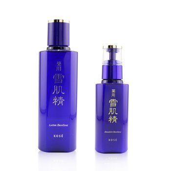 Sekkisei Excellent Lotion & Emulsion Set: Lotion Excellent 200ml + Emulsion Excellent 140ml  2pcs