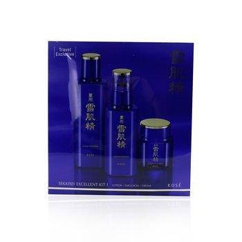 Sekkisei Excellent Kit I: Lotion Excellent 200ml + Emulsion Excellent 140ml + Cream Excellent 50g  3pcs