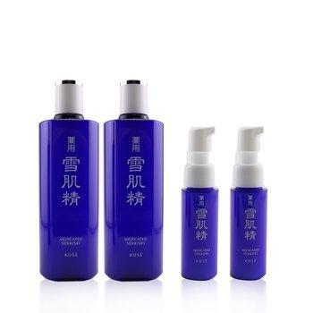 Medicated Sekkisei Lotion Duo Set: 2x Medicated Sekkisei 360ml + 2x Sekkisei Emulsion 20ml - צמד תחליבים  4pcs