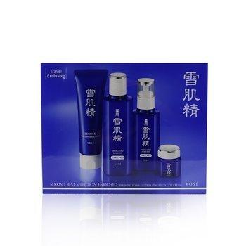 Sekkisei Best Selection Enriched Set: Washing Foam 130g+Enriched Lotion 200ml+Enriched Emulsion 140ml+Eye Cream 20g  4pcs