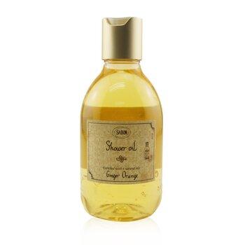 Shower Oil - Ginger Orange (Plastic Bottle)  300ml/10.5oz