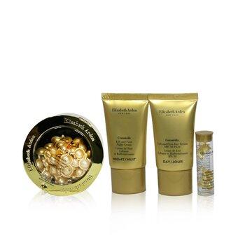 Ceramide Lift & Firm Youth-Restoring Set: ADVANCED Ceramide Capsules 60caps+ Day Cream SPF30 15ml+ Night Cream 15ml+ Eye  4pcs+1bag