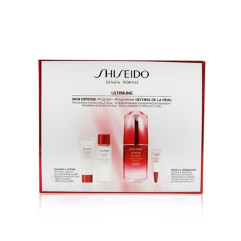 Skin Defense Program Set: Ultimune Power Infusing Concentrate 50ml + Cleansing Foam 15ml + Softener 30ml + Eye Concentrate 3ml  4pcs