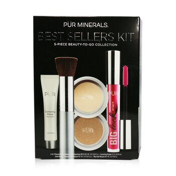 Best Sellers Kit (5 Piece Beauty To Go Collection) (1x Primer, 1x Pressed Powder, 1x Bronzer, 1x Mascara, 1x Brush)  5pcs