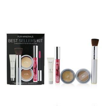 Best Sellers Kit (5 Piece Beauty To Go Collection) (1x Powder, 1x Primer, 1x Bronzer, 1x Mascara, 1x Brush)  5pcs