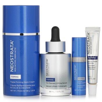 مجموعة لشد وتقوية البشرة Skin Active: كريم عنق + سيرم + ملبي جلدي + مركب مرمم ريتينول  4pcs
